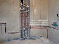 Монтаж коллекторной (лучевой) разводки медного водопровода.