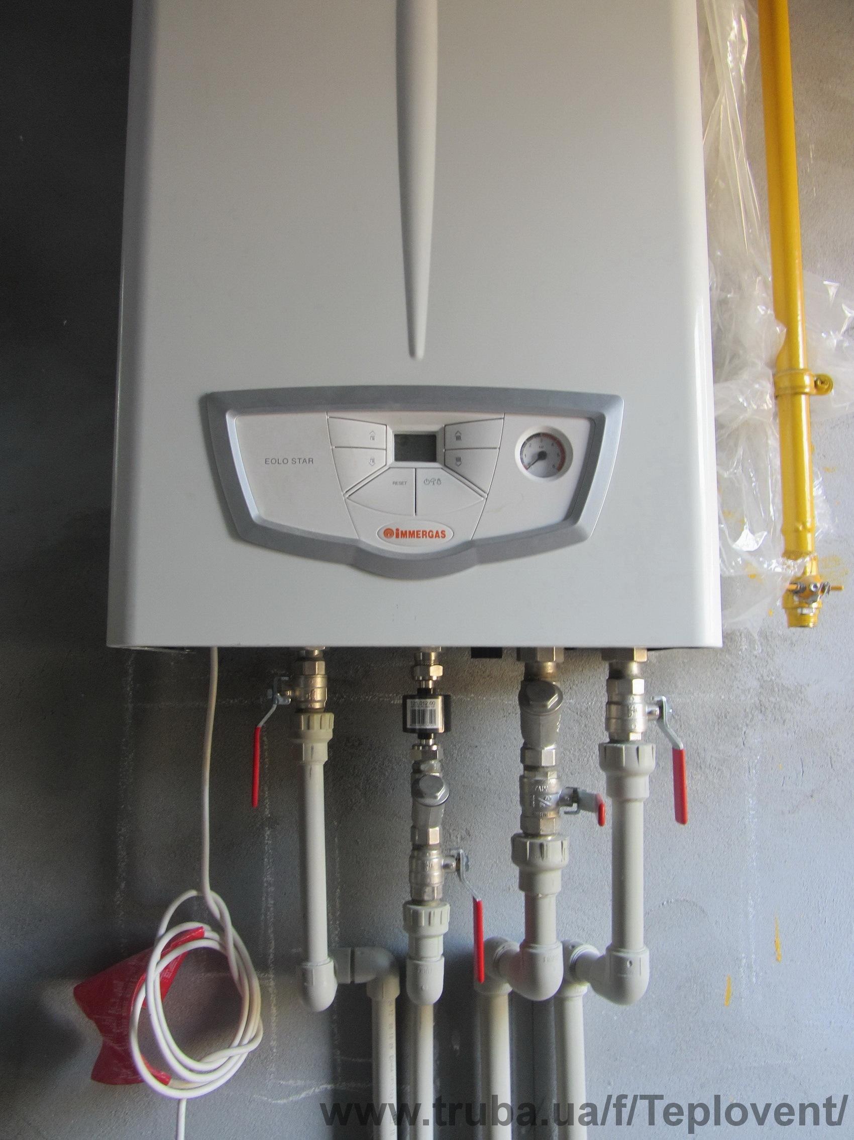 Монтаж котлов отопления в частном доВодопровод в