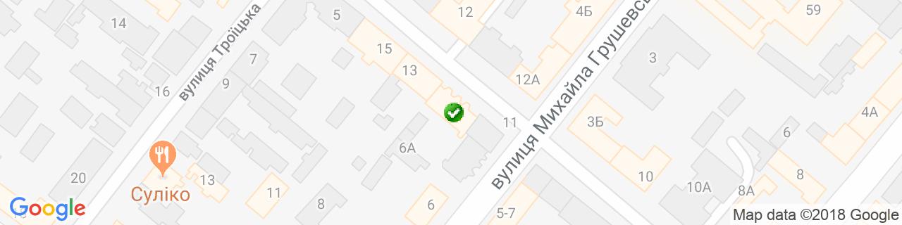 Карта об'єктів компанії Димарi