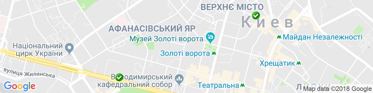 Карта объектов компании Эйрвент