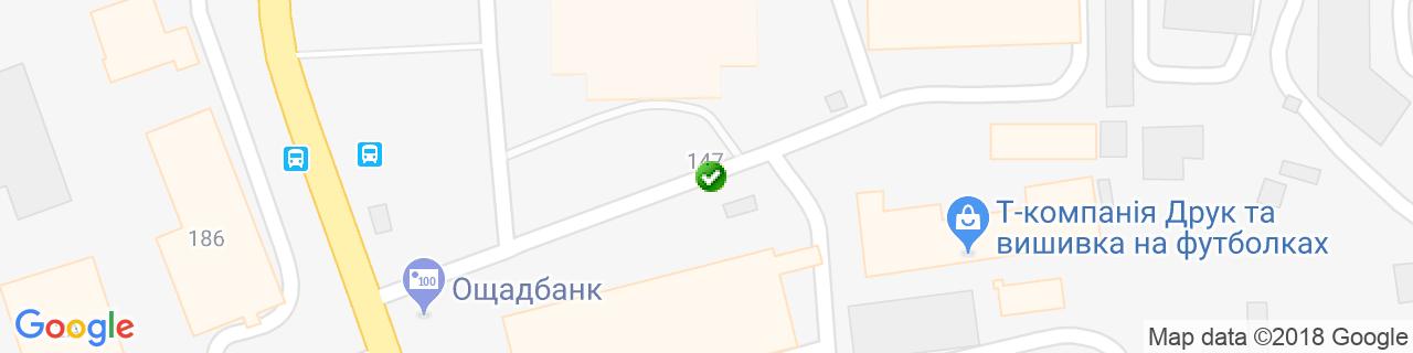 Карта объектов компании АлВентТех