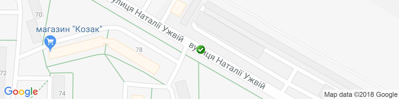Карта объектов компании Бочаров Е.В.