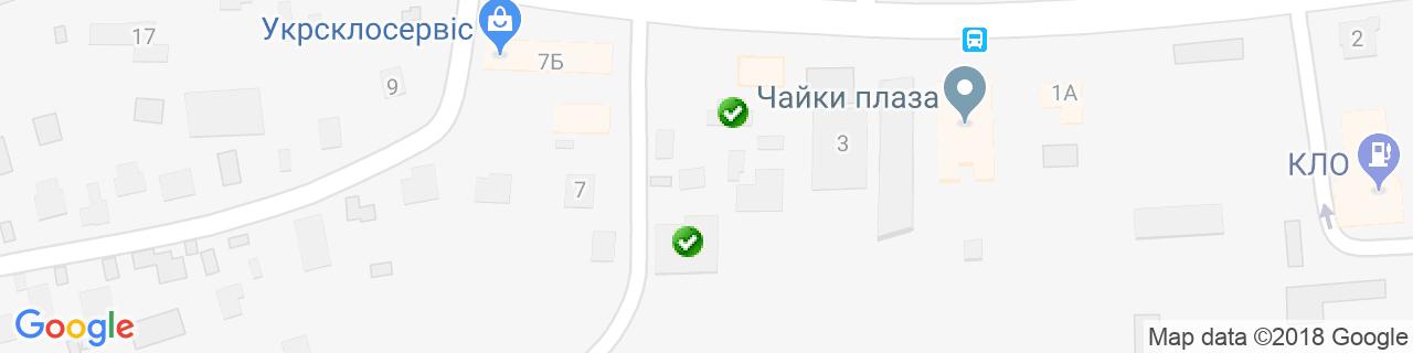 Карта об'єктів компанії БАЛТИК РЕФРІДЖЕРЕЙТІНГ ГРУП
