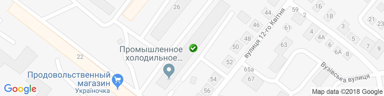 Карта объектов компании Фаэр фрост