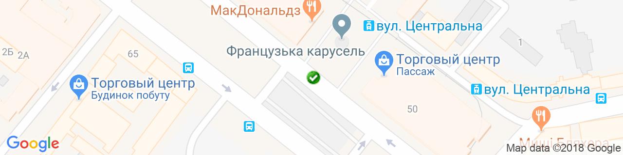 Карта объектов компании Федякин А.В.