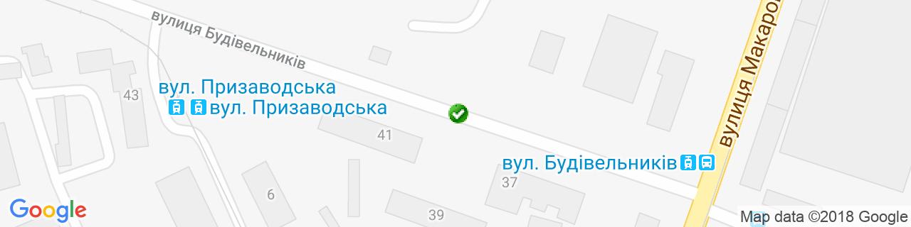 Карта объектов компании Компания ФЕВ