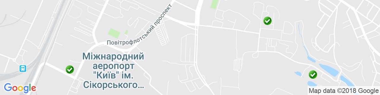 Карта объектов компании Новый Дом Украина