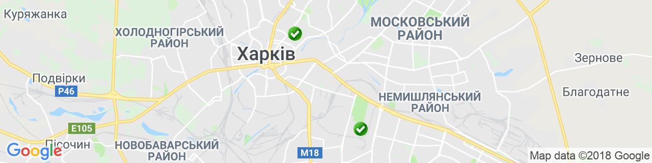 Карта об'єктів компанії КАРОФФ
