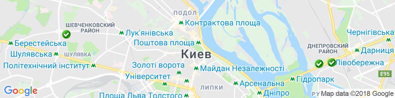Карта объектов компании САЖОТРУС