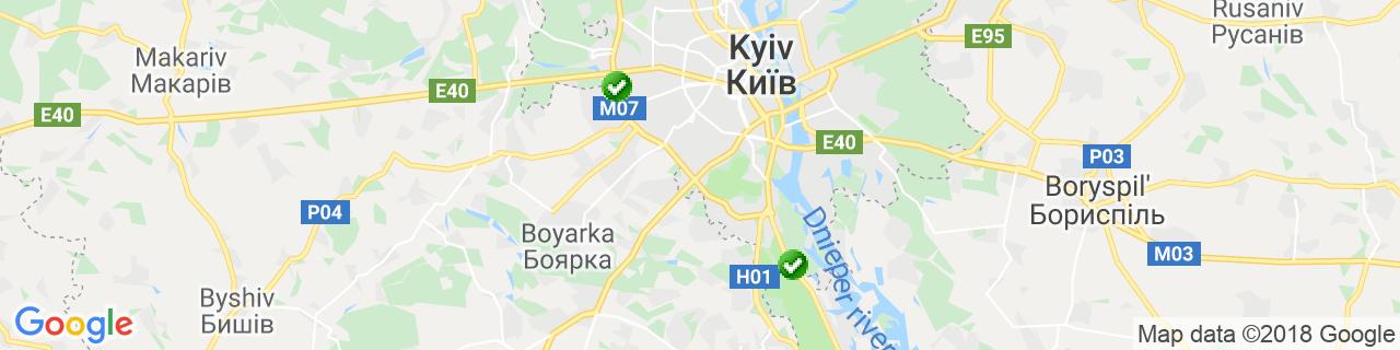 Карта объектов компании СМАРТ КЛИМАТ ГРУП