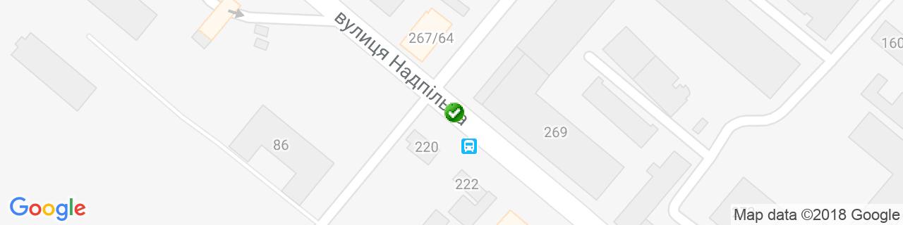 Карта объектов компании ТЕПЛОДІМ