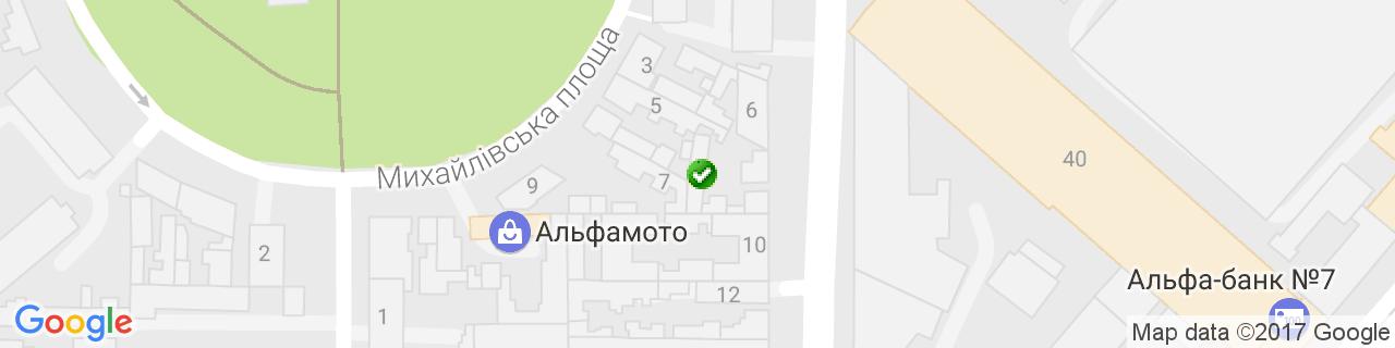 Карта об'єктів компанії AirMaster