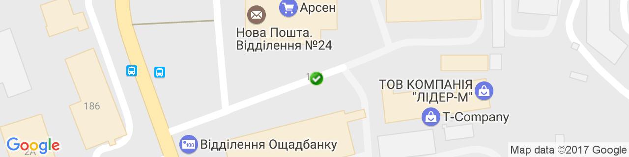 Карта об'єктів компанії АлВентТех