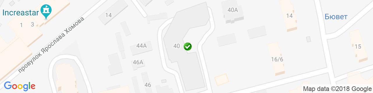 Карта объектов компании ДИСАВИ