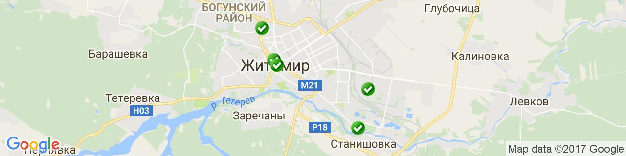 Карта об'єктів компанії Елефант-комфорт