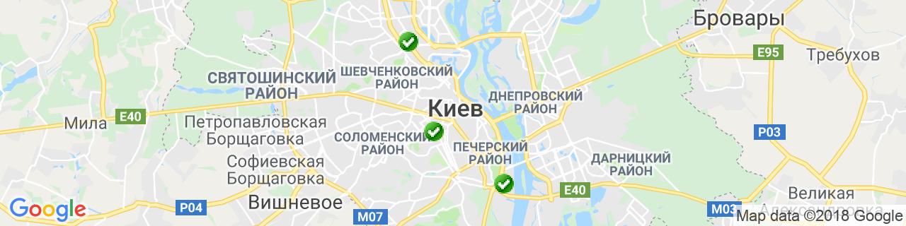 Карта объектов компании БИШОФИТ УКРАИНА