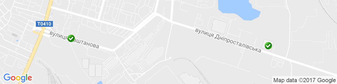 Карта объектов компании ГЛОБАЛ ИНЖИНИРИНГ