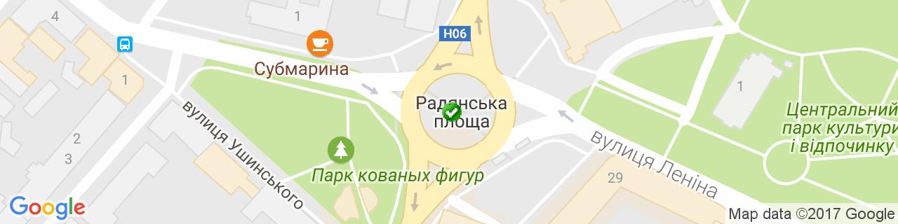 Карта об'єктів компанії Гідрокрим