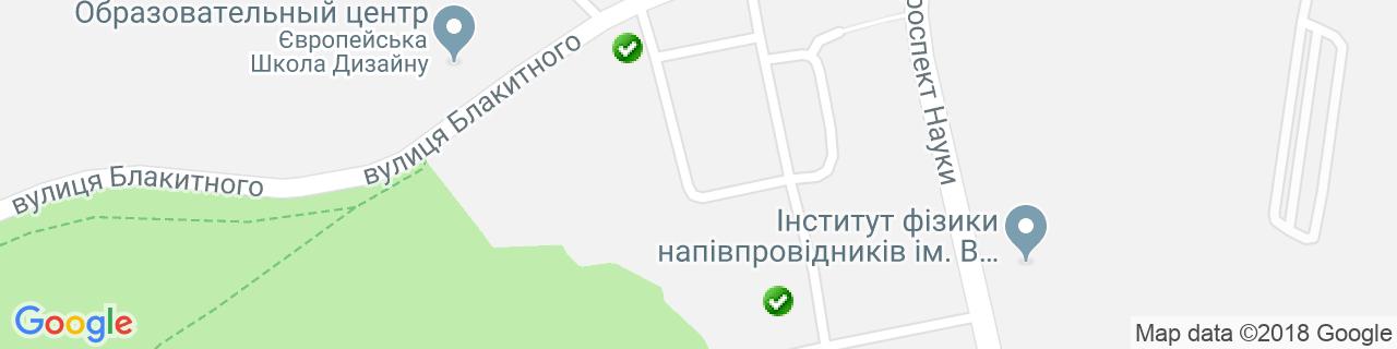 Карта объектов компании Хитте