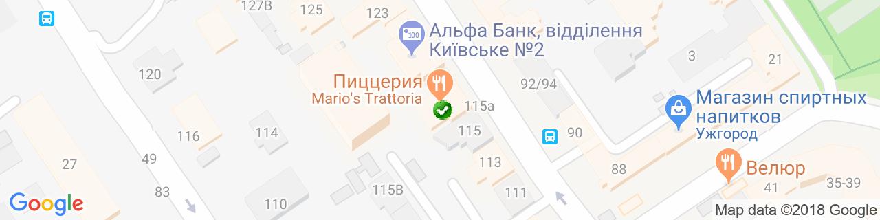 Карта объектов компании Редька