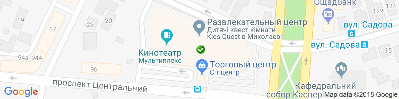 Карта объектов компании Хладотехника