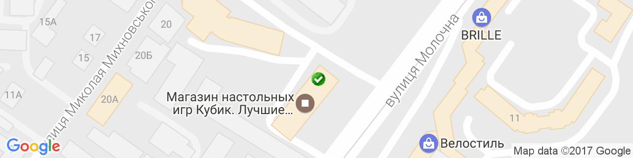 Карта об'єктів компанії ДомІнвестСтрой