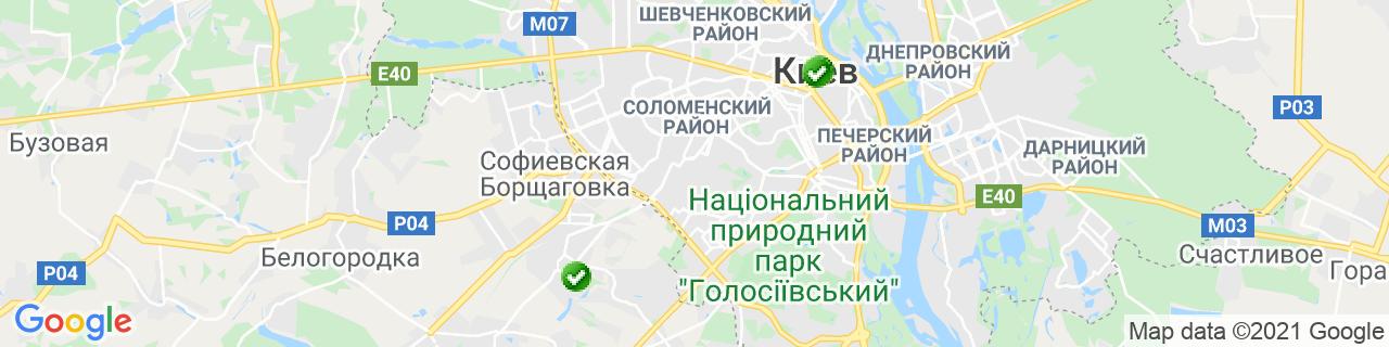 Карта об'єктів компанії ТД Прибалтика
