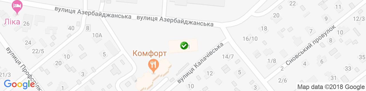 Карта об'єктів компанії ПолімерКомплект