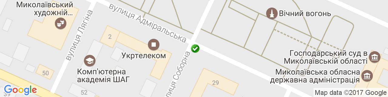 Карта об'єктів компанії Пышногуб В.В.