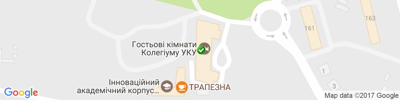 Карта об'єктів компанії Соннігер-Україна