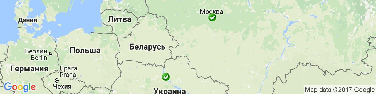 Карта объектов компании ТТС Буд