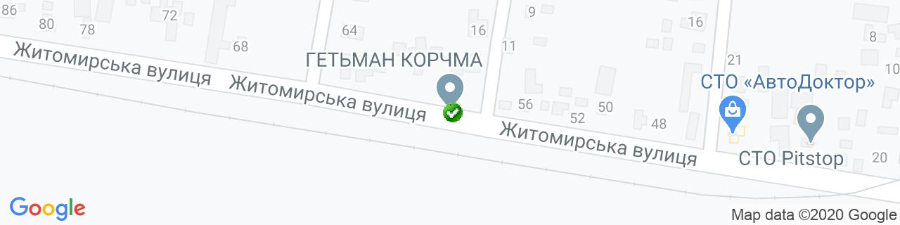 Карта объектов компании Элкон-дизайн